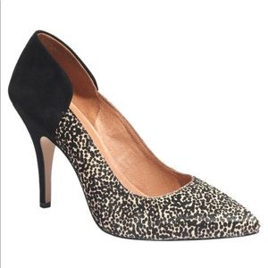 Madewell the Maddie heel in speckle calf hair